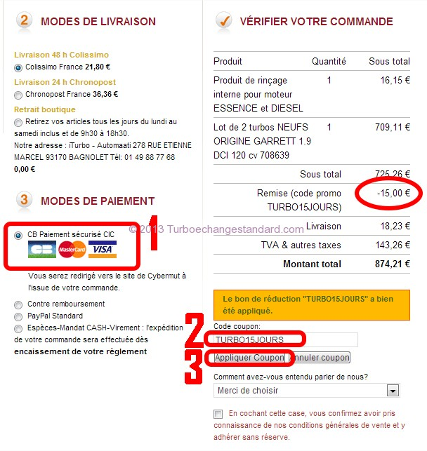 iturbo.fr coupon remise promo 15 euros 15 jours